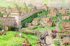 Лубяной торг на Трубе в XVII веке.