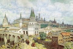 Расцвет Кремля. Всехсвятский мост и Кремль в конце XVII века. 1922