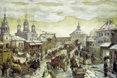 У Мясницких ворот Белого города в XVII веке. 1926