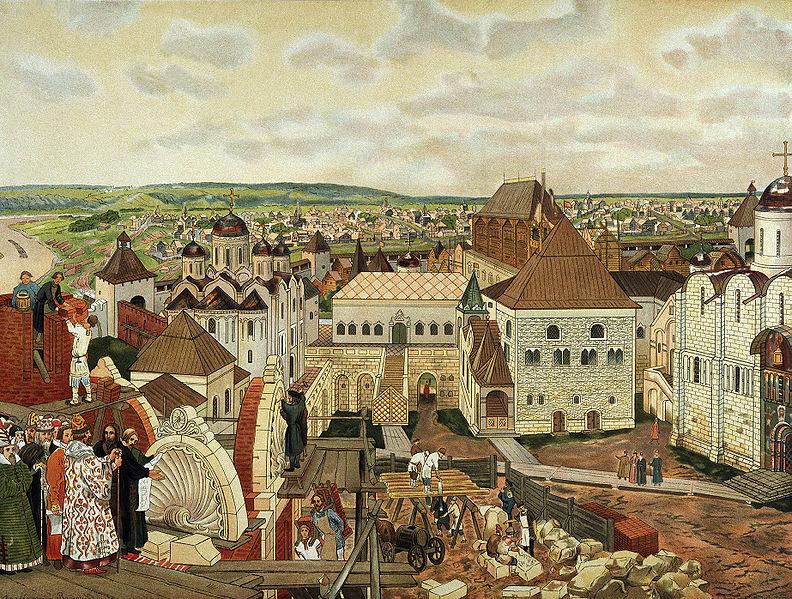 Производство кирпича и строительство в Московском государстве в XVI -ХVII веках