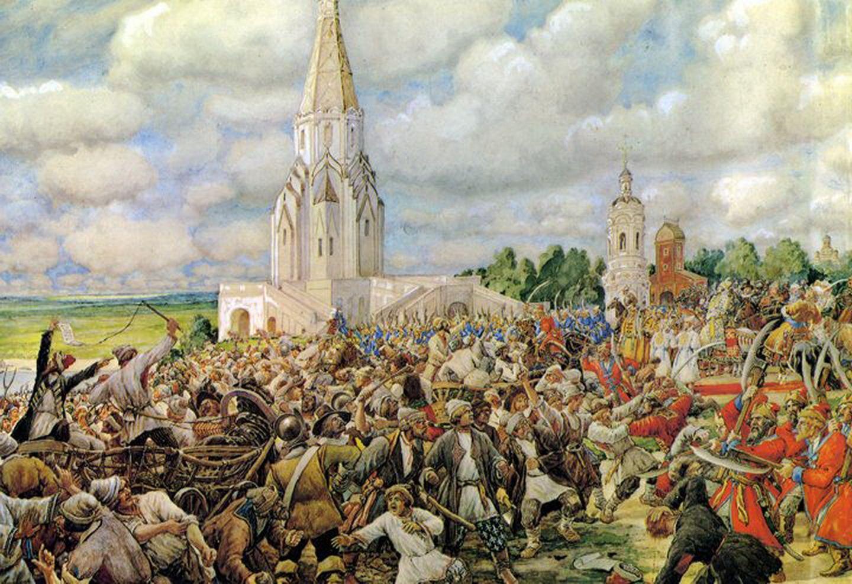 Картина Эрнеста Лисснера Медный бунт