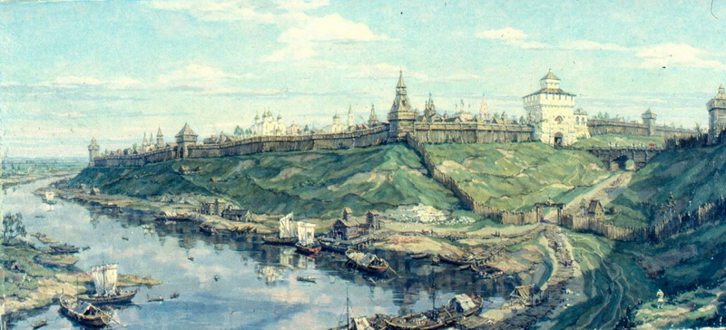 Переяславль-Рязанский в XVI веке. С картины В. Кузьмина
