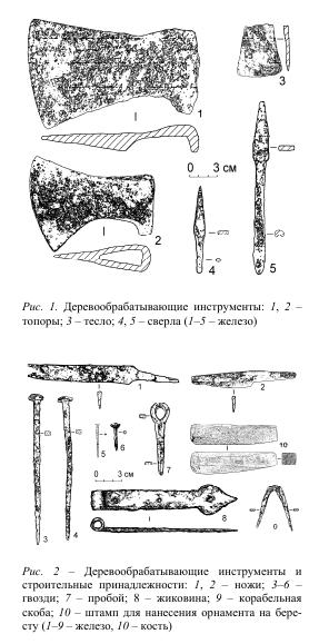 Деревообрабатывающие инструменты xvi - xvii век