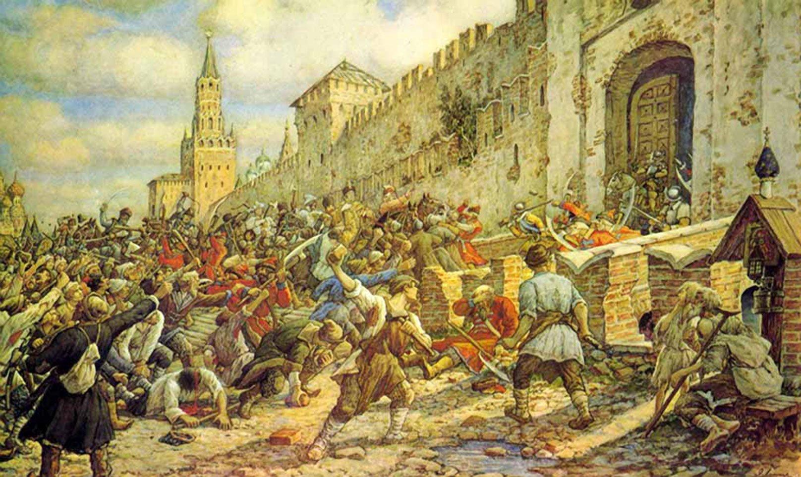 Соляной бунт в Москве, 1648. Картина Эрнеста Лисснера, 1938
